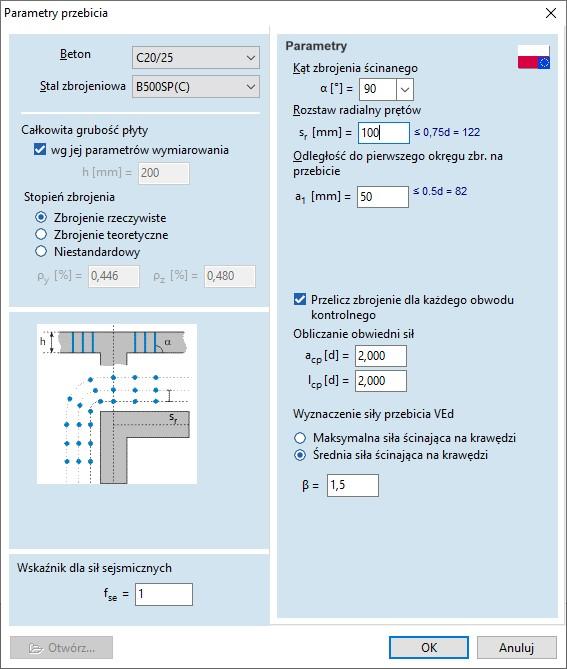 Sprawdzanie przebicia na zakończeniu ścian i ich narożnikach (moduł RC3)