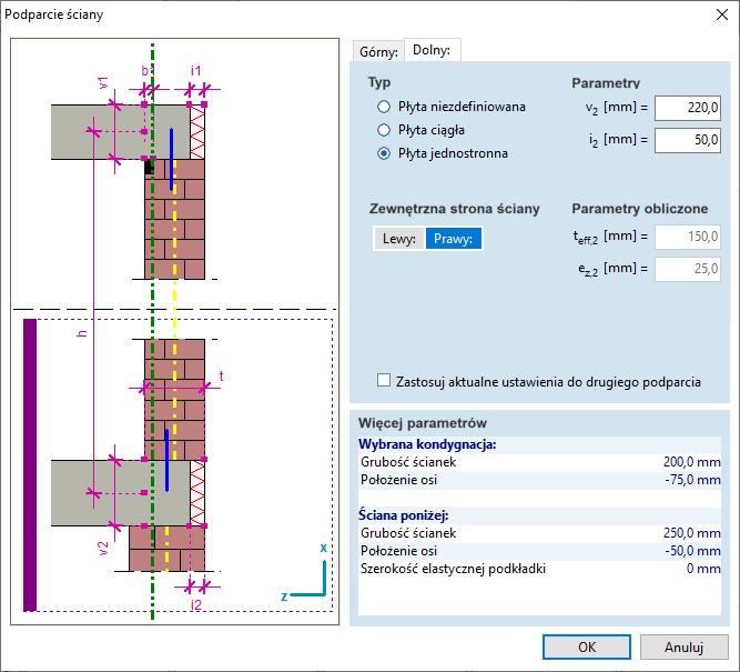 Wymiarowanie ścian murowych (nowy moduł MD1)