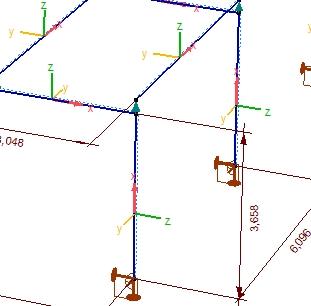 Wyświetlanie etykiet osi lokalnych układów elementów