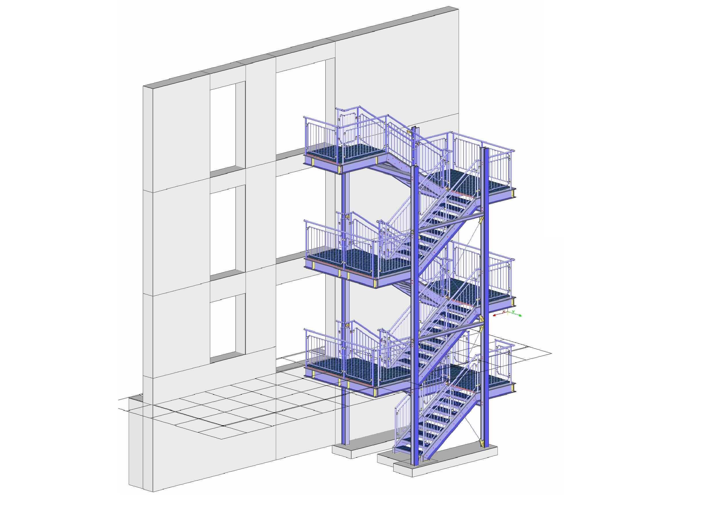 Mannheim / Konstrukcja schodów przemysłowych